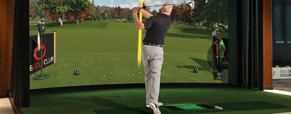 golf simulator swing analyzer