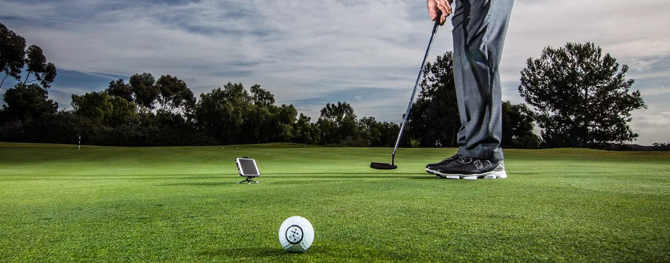 golf swing analyzer in action