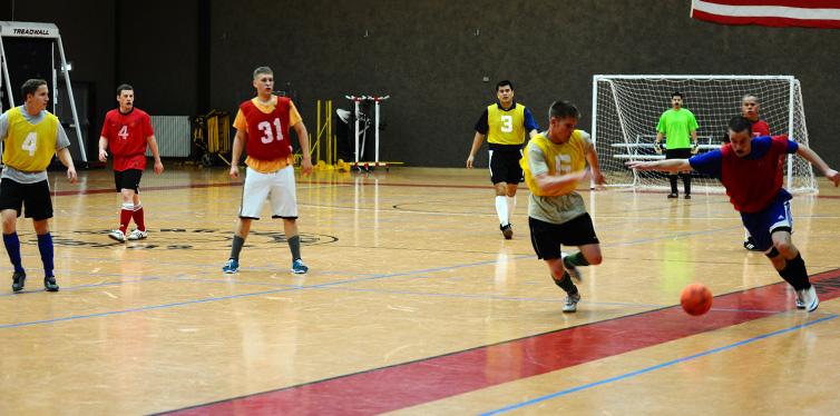 indoor soccer match