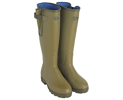 le chameau vierzonord neoprene lined wellington boots for women