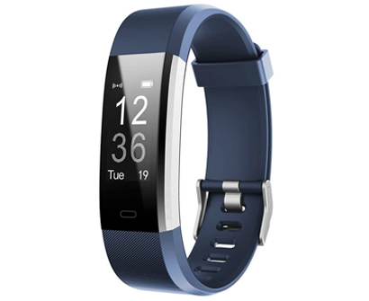 letscom fitness and activity tracker watch with heart rate monitor