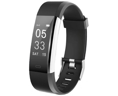 lintelek fitness and activity tracker + heart rate monitor watch