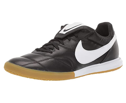 nike men's premier ii ic indoor soccer shoes (black/white)