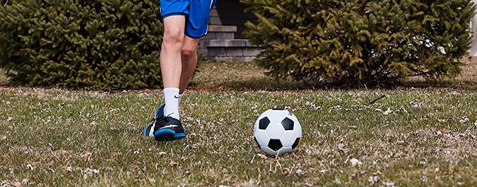 soccer ball in yard
