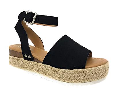 soda women's valett open toe casual ankle strap sandals