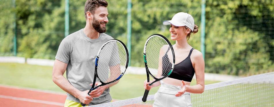 tennis rackets couple