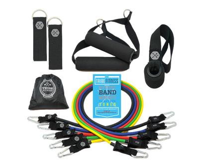 tribe 11pc premium resistance bands set