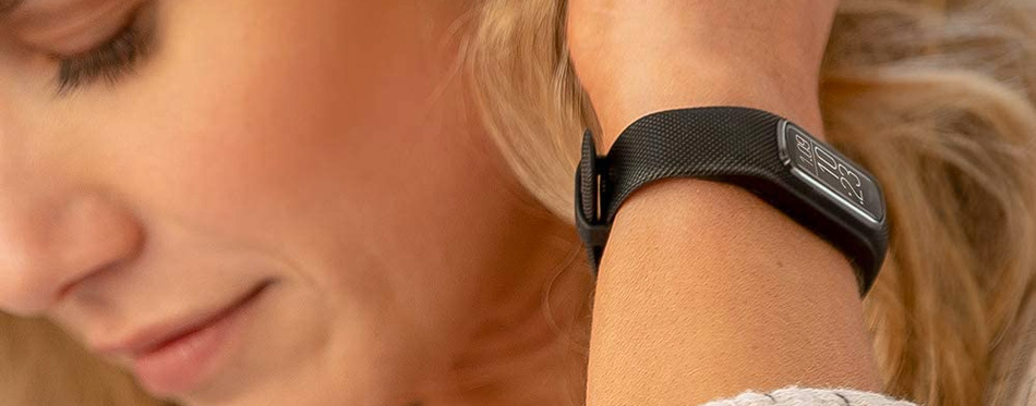 wearing heart rate monitor