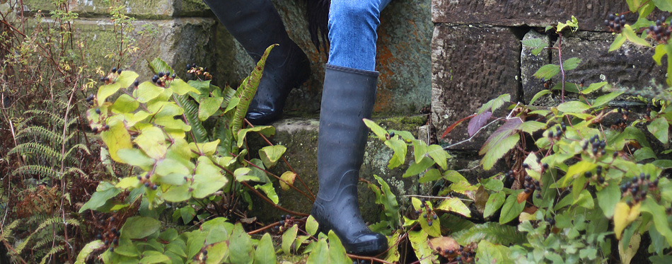 woman with wellington boots