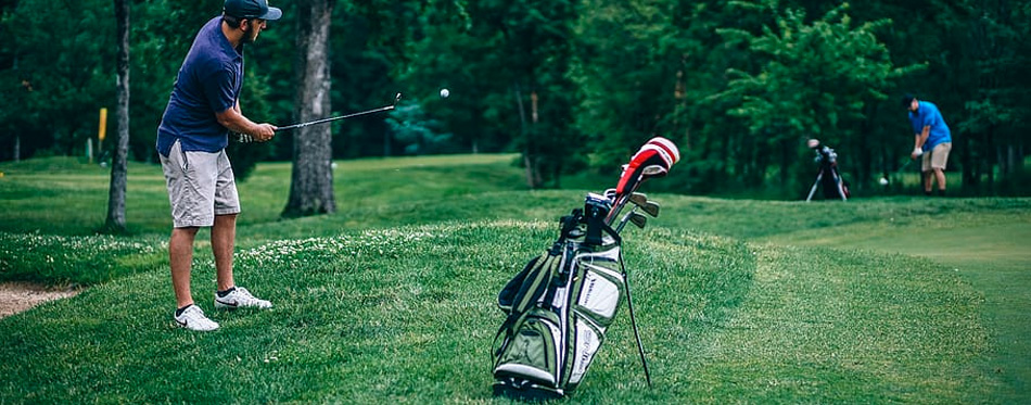 golf bag in action