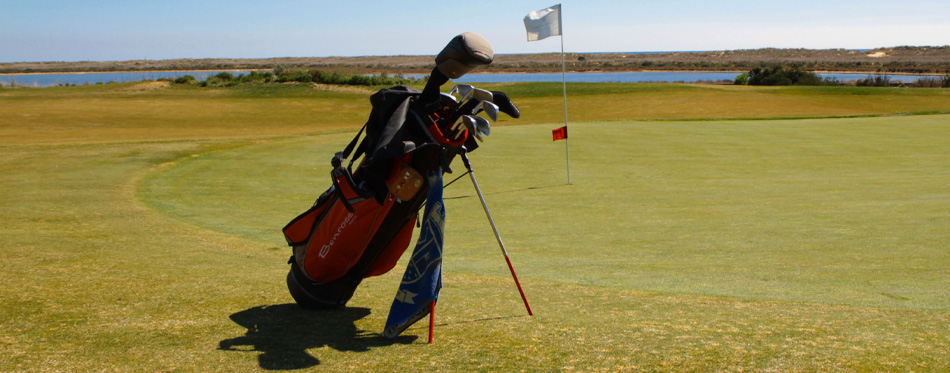 golf bag on the court