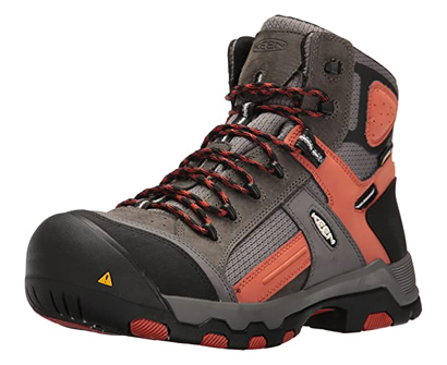 keen utility men's davenport waterproof composite toe work boot