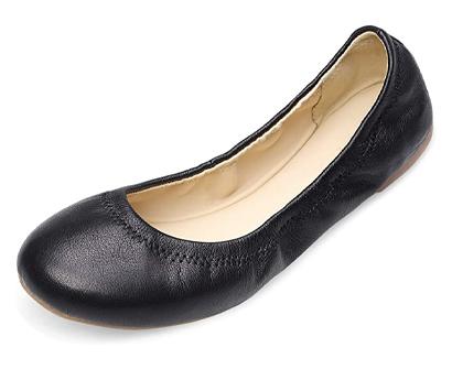 xielong women's chaste ballet flat lambskin loafers