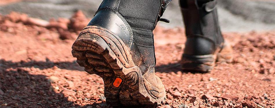 zipper work boots sole