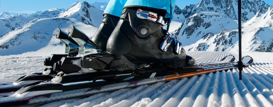 black ski boots