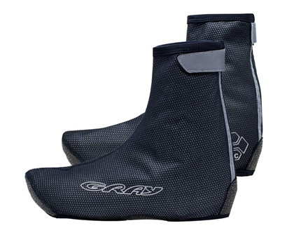gray cycling shoe covers
