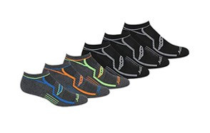 saucony men's multi-pack performance comfort fit no-show socks