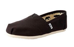 toms women's black canvas alpargata flats