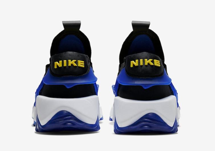 nike adapt huarache black/racer blue sneaker
