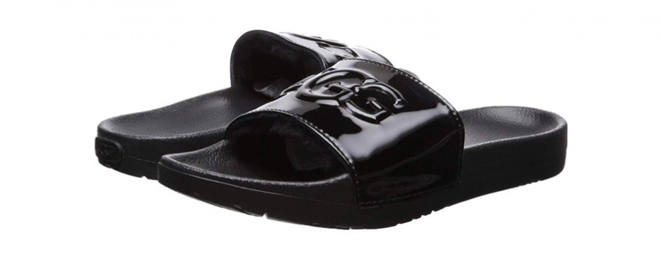 ugg women's royale graphic metallic slide sandal
