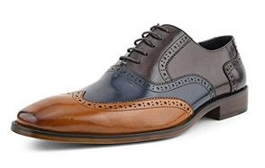 asher green men's tri tone calf leather wingtips