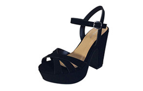 bamboo simple platform sandal