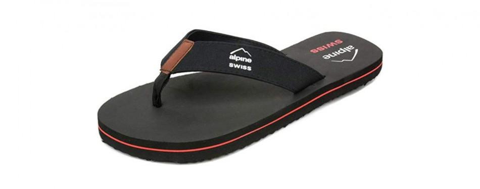 alpine swiss mens flip flops beach sandals