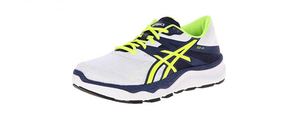asics 33 unisex running shoe