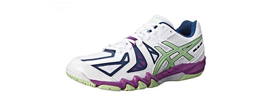 asics women's gel blade 5 indoor court shoe