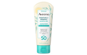 aveeno positively mineral sensitive skin daily sunscreen lotion with spf 50