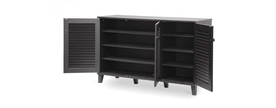 baxton studio warren shoe-storage cabinet