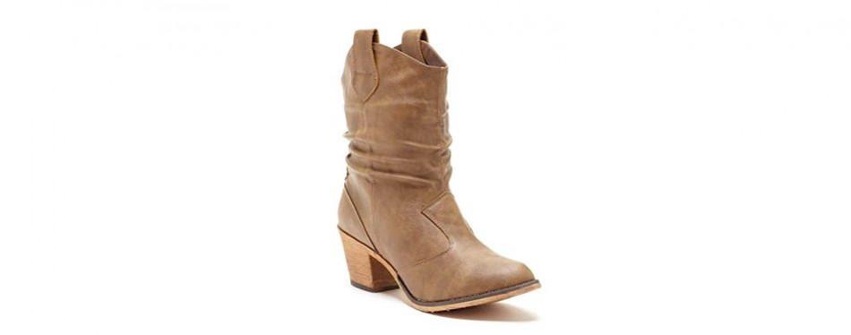 charles albert women's modern distressed cowboy boot