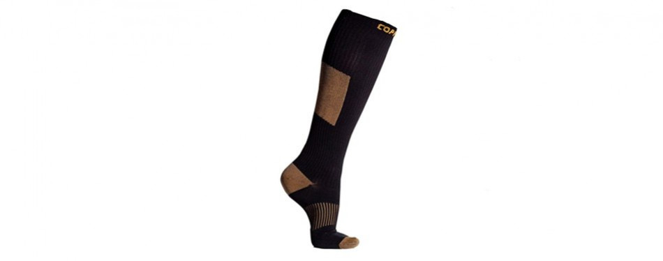 copperjoint copper infused long compression socks