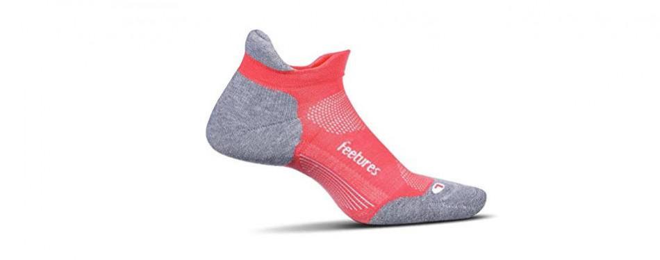 feetures unisex elite max cushion no show tab athletic running socks