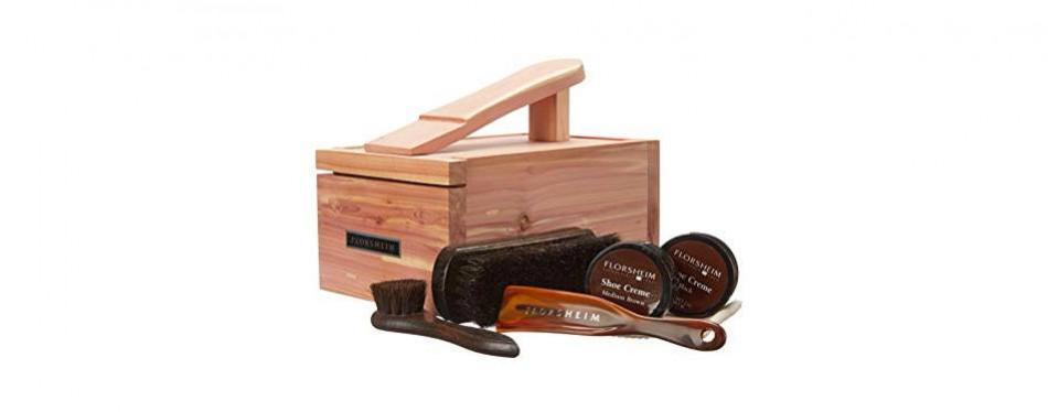 florsheim shoe company men's cedar shine box