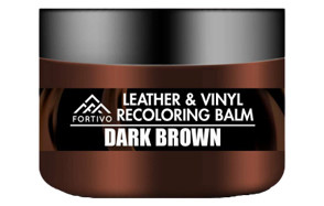 fortivo dark brown leather recoloring balm
