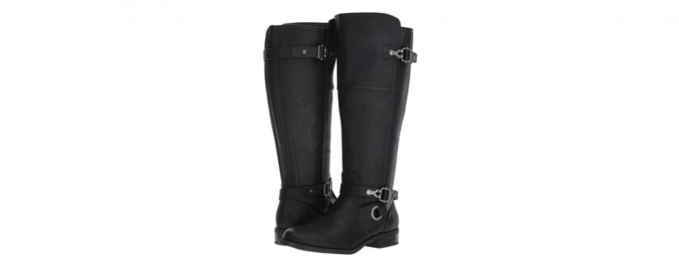 g by guess women's harvest wide calf boots