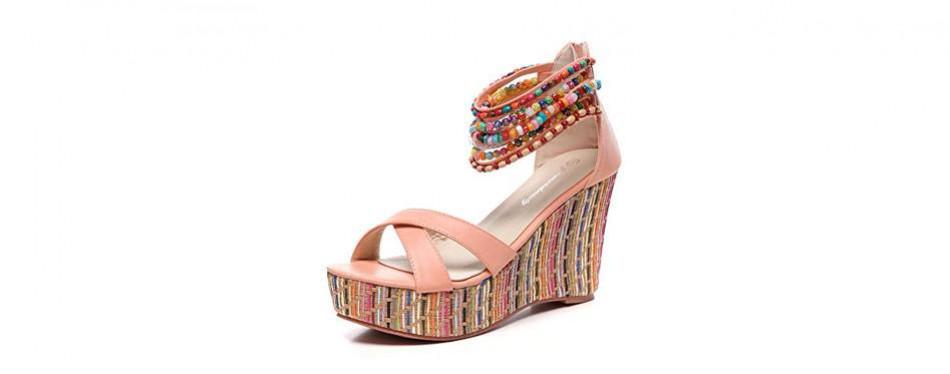 get more beauty women's wedge platform sandals