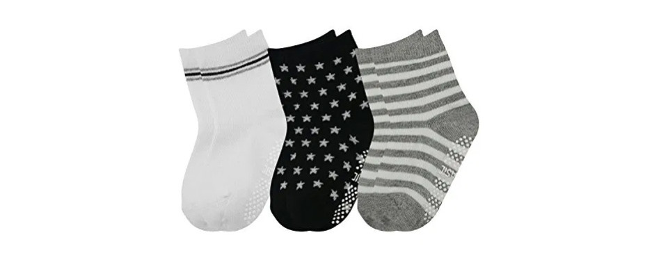 hip hall assorted non-skid cotton baby ankle socks