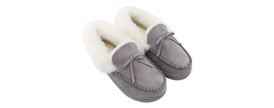 homeideas women's suede house slippers