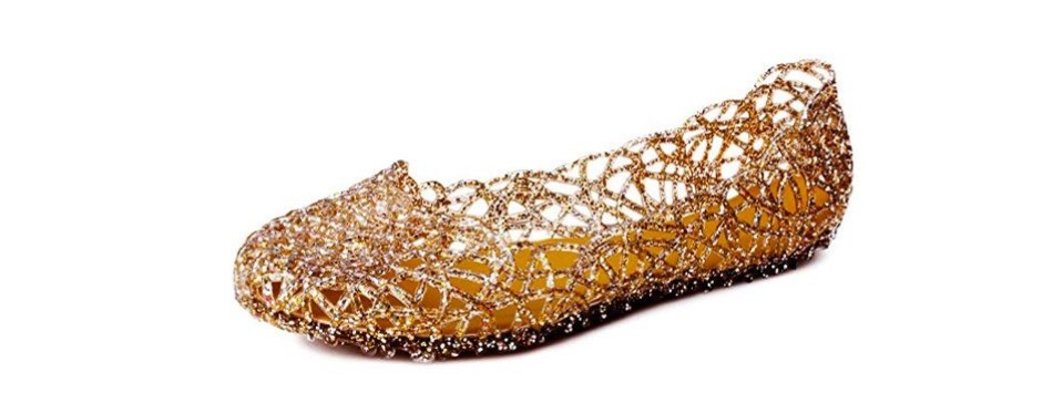 kunsto women's bird nest jelly ballet flats