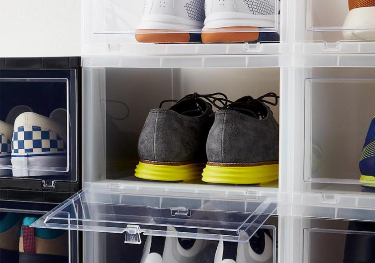 large drop front shoe box