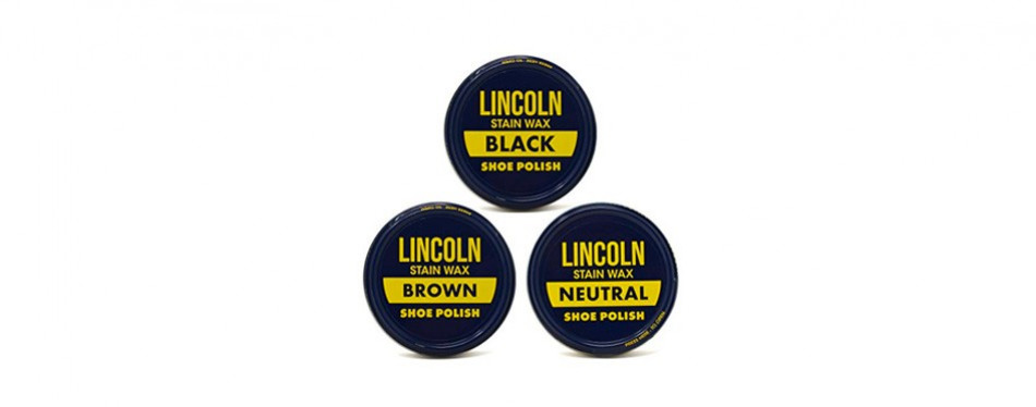 lincoln stain wax shoe polish variety pack