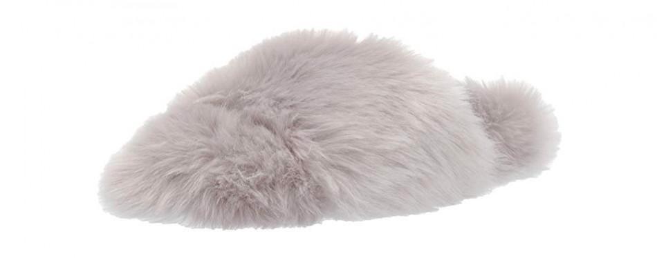 mae women's fuzzy one-strap slipper
