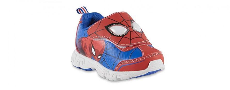 marvel toddler boys spider-man light-up sneaker