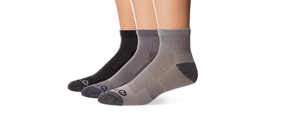 merrell men's 3 pack cushioned performance hiker socks