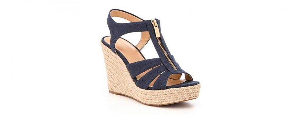 michael kors women's berkley wedge sandals