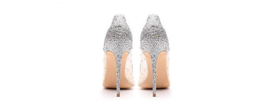 miluoro transparent wedding shoes