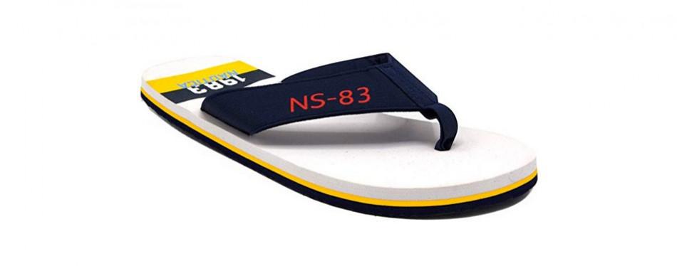 nautica men's footrope flip flop