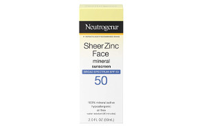 neutrogena sheer zinc oxide dry-touch face sunscreen